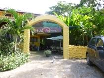 The entrance to La Aurora