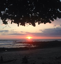 Our first sunset in Santa Teresa