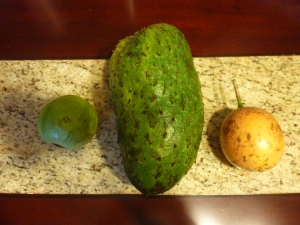 Guava, Guanabana, and Passion Fruit