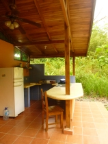 Our little kitchen area. Howler monkeys were going crazy when I took this!