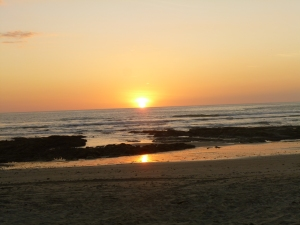 The perfect running tide...the sunset isn't so bad either ;)