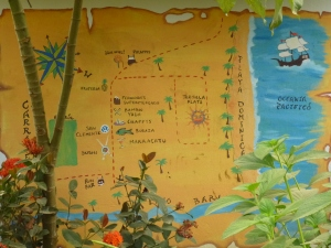 The town map of Dominical