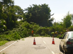 woops, road block!