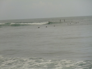 Pretty busy surf spot