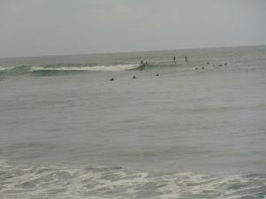 Pretty busy surf spot