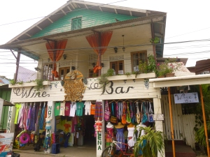 An example of some of the cool buildings in Bocas Town