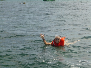 No one looks cool snorkelling...especially me.