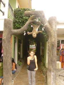 sloth friend at the entrance